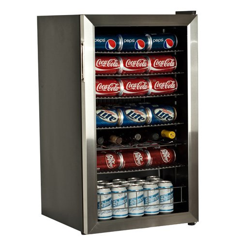 Review EdgeStar 103 Can and 5 Bottle Extreme Cool Beverage Cooler - Stainless Steel