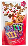 Friskies Party Mix, Mixed Grill Crunch Cat Treats, Chicken, Beef & Salmon Flavors, 2.1-Ounce Pouches (Pack of 10)