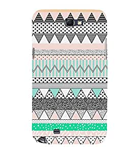 Abstract Zig Zag Pattern Cute Fashion 3D Hard Polycarbonate Designer Back Case Cover for Samsung Galaxy Note 2 :: Samsung Galaxy Note II N7100