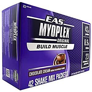 Myoplex, Chocolate Cream, 42 Packets, From EAS
