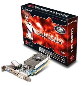 Sapphire HD6570 - Tarjeta gráfica (PCI-e, memoria de 2 GB GDDR3, DVI dual, HDMI)