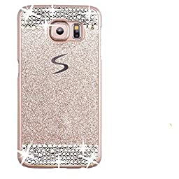 Galaxy S7 Edge Case,Inspirationc® eauty Luxury Diamond Hybrid Glitter Bling Hard Shiny Sparkling with Crystal Rhinestone Cover Case for Samsung Galaxy S7 Edge--Gold Diamond
