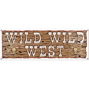 Wild Wild West Sign Banner Party Accessory (1 count) (1/Pkg) by Shindigz