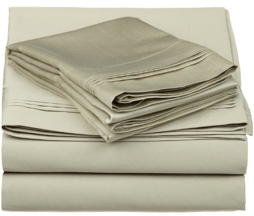 Egyptian Cotton 600 Thread Count Queen Sheet Set Solid, Sage front-804043