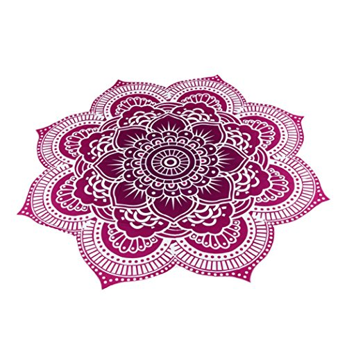 LUNIWEI Outdoor Mandala Hippie Round Beach Blanket Yoga Mat Bohemian Featu... (Adult Hooded Blanket compare prices)