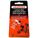 Janome Clear View Quilting Foot and Guide Set (Color: Silver)
