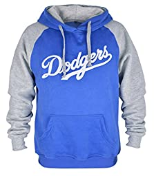 Clor Mens Los Angeles Dodgers Super Athletic Pullover Hoodie - Blue L