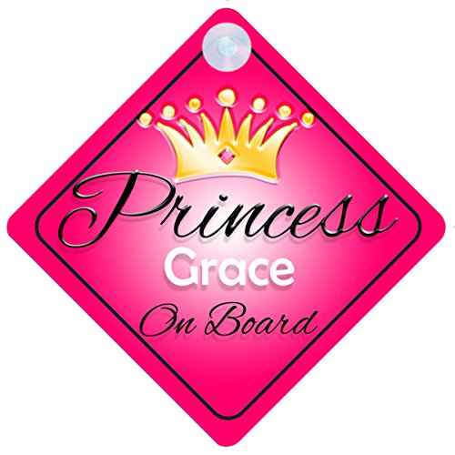 princess-grace-on-board-personalised-girl-car-sign-baby-child-gift-001