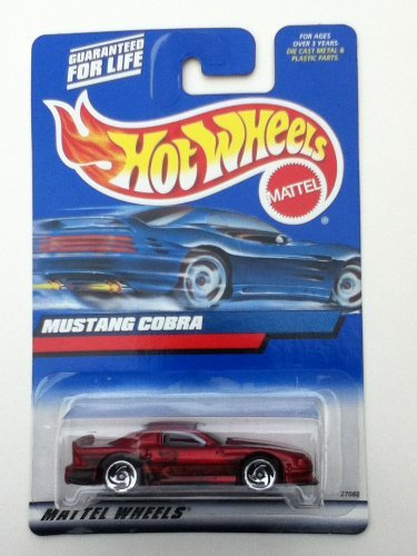 Hot Wheels 2000 #121 Mustang Cobra w/ Clear Windows on Squared Card