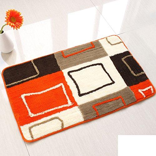 Flower flock mats/Entrance door mats/foot Pad/Bathroom water-absorbing mat-A 50x80cm(20x31inch)