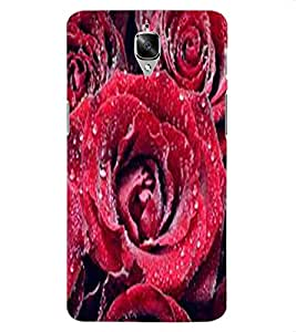 ColourCraft Lovely Roses Design Back Case Cover for OnePlus Three