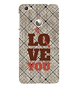 Fuson Premium Back Case Cover I love you With red Background Degined For Letv Le 1S