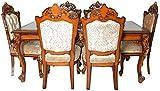 Ankita Furniture AF-1 Six Seater Dining Table Set (Beige)