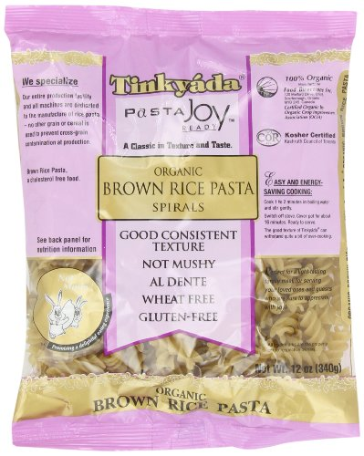 Tinkyada Gluten Free Organic Brown Rice Pasta Spirals, 12-Ounce (Pack of 6) (Rice Pasta Organic compare prices)