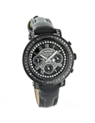 Ladies Black Diamond Watch 2.15ct LUXURMAN Watches