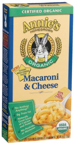 Annie's Homegrown Organic Classic Macaroni & Cheese, 6-Ounce Boxes (Pack of 12)