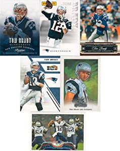 Tom Brady 10 Card Gift Lot Containing One Each of His 2013 Score, 2011 Topps Record... by Tom Brady Card