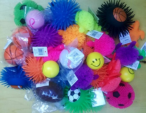 Puffer Ball Toys : Stress balls and squeeze toys value assortment pack