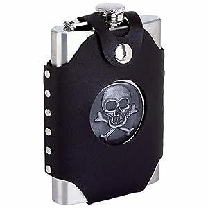 Maxam® 8Oz Skull & Cross Bone Flask