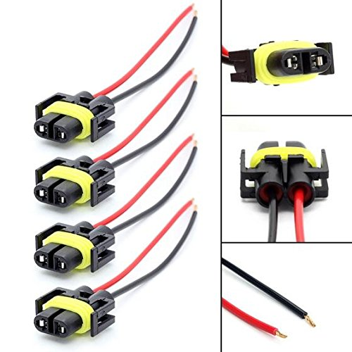 PartsSquare 4X 880 H11 881 Extended Wiring Harness Sockets Connector For Fog Driving Lights (2001 Ford Escape Wiring Harness compare prices)