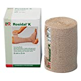 Rosidal K Short Stretch Compression Bandage, 100% Cotton & Latex Free Wrap for Lymphedema & Swelling, 4.72
