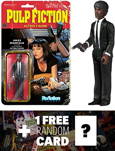 Jules Winnifield: Funko ReAction x Pulp Fiction Action Figure + 1 FREE Classic Movie Trading Card Bundle (040833)