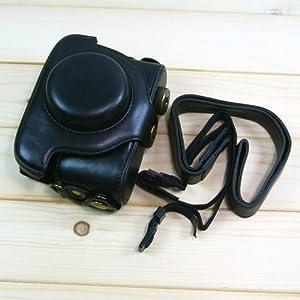 (Black) PU Leather Camera Case for Panasonic LUMIX LX5 (536-1)