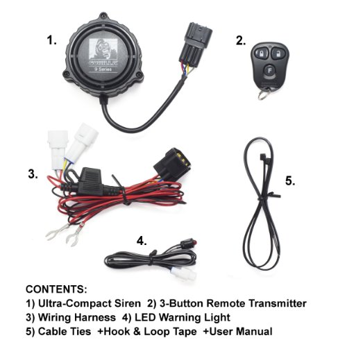 gorilla automotive 9000 motorcycle alarm with remote