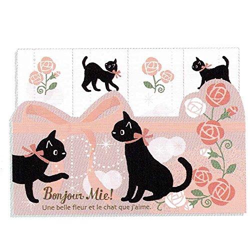 黒猫ミイ 付箋 ローズ