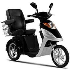 Ev3 Three Wheel Electric Mobility Scooter 500 Watt Motor 48 Volt 20ah Battery by Rad2go EV3 Mobility Scooter