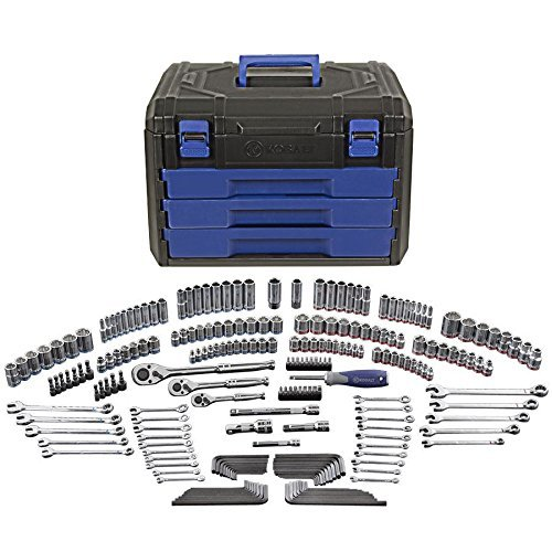 KOBALT 227pc MECHANIC SOCKET RATCHET COMBO WRENCH TOOL SET 1/4 3/8 1/2 DR MM SAE (Mac Tools Tool Box compare prices)
