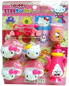 Amazon Hello Kitty Miniature Tea Time Set Cup Teapot