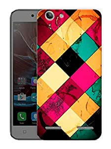 "Box Pattern Abstract Printed Designer Mobile Back Cover For ""Lenovo Vibe K5 - K5 Plus"" By Humor Gang (3D, Matte Finish, Premium Quality, Protective Snap On Slim Hard Phone Case, Multi Color)"