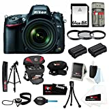Nikon D610 24.3 MP CMOS FX-Format Digital SLR Camera & 24-85mm VR Lens Kit with 64 GB SD Card + Tiffen 72mm Photo Essentials Filter Kit + Two Additional EN-EL15 Batteries for Nikon + Holster Case + Accessory Kit