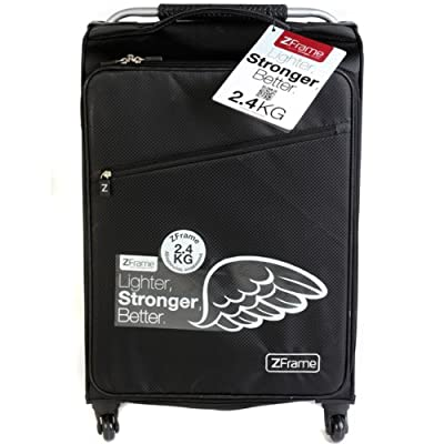 "ZFrame Super Lightweight Luggage Suitcase 22"" Black by ZFrame"