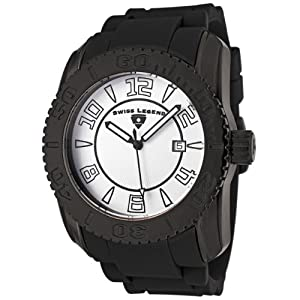 Mens 20068-BB-02 Commander Collection Black Ion-Plated White Dial Watch