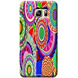 Tecozo Designer Printed Back Cover For Samsung Galaxy S6 Edge Plus, Samsung Galaxy S6 Edge Plus Back Cover, Hard Case For Samsung Galaxy S6 Edge Plus, Case Cover For Samsung Galaxy S6 Edge Plus, (Rangoli Print Design,Pattern)