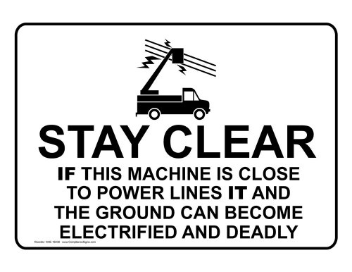 Compliancesigns Vinyl Truck Safety Label, 5 X 3.5 In. With English, White 4-Pack front-136582