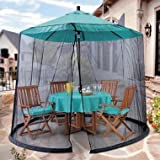 Umbrella Mosquito Net Canopy Patio Table Set Screen House - Premium Netting Standard Size