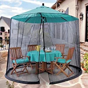 umbrella mosquito net canopy patio table set