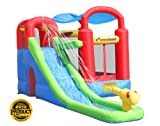 Inflatable drinking water Slides:Bounceland moist or Dry blow up Bounce home With Ballpit -- Red/ Blue/ Yellow