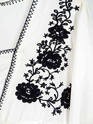 Ashir Aley White Ruffle Sleeve Cotton Pintuck V-neck Mexican Peasant Blouses