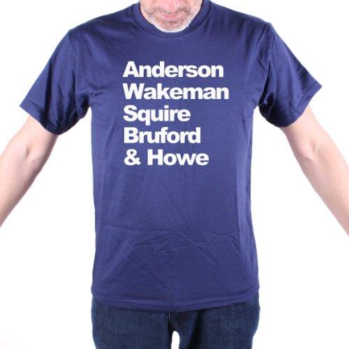 Wakeman Anderson Squire Bruford & Howe-T Shirt, SÌ! blu navy XXL