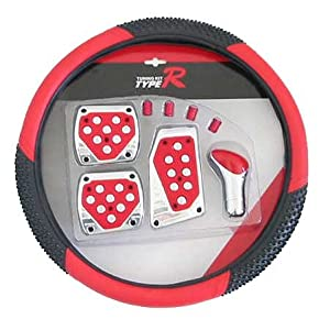 Type-r Red Race Pedals W/shifter Steering Wheel Cover
