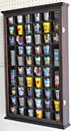 56 Shot Glass Shooter Display Case Holder Cabinet Wall Rack