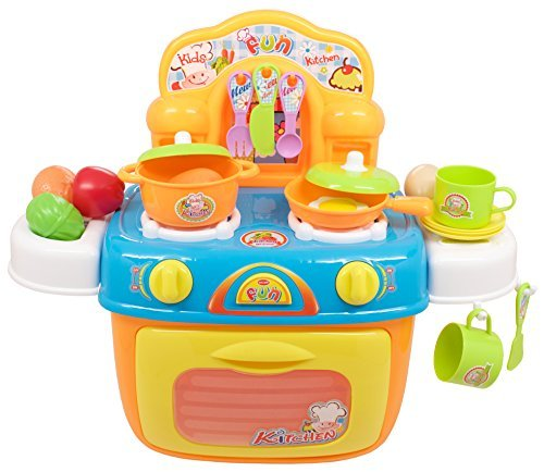 TECHEGE Toys Learn'n'Play Kids Oven Cookware Set Boys and Girls Cooking Kitchen Learning Experience Fun Life Skills (Cooking Kitchen Set compare prices)