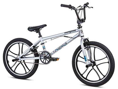 Mongoose Boy's Legion Mag Bicycle, 20-Inch, Silver (Bmx 20 Inch Rims compare prices)