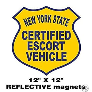 Amazon.com: One Certified Escort Vehicle Magnetic Sign Pilot Car