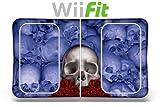 Designer Decal for Nintendo Wii Fit Balance Board - Bonecollector Blue