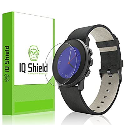 Pebble Time Round 20mm Screen Protector, IQ Shield® LiQuidSkin (6-Pack) Full Coverage Screen Protector for Pebble Time Round 20mm HD Clear Anti-Bubble Film - with Lifetime Warranty